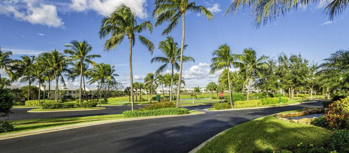 Gated community condominiums in South Florida