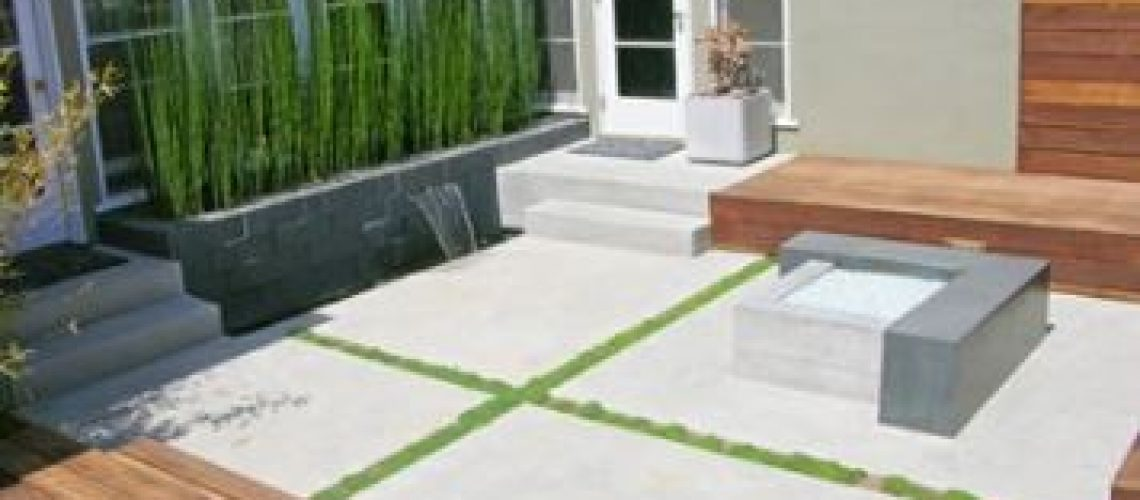multiple focal point small landscaping